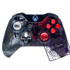 MICROSOFT XBOX ONE CONTROLLER - CUSTOM SILVER RED CAMO CHROME BUTTONS BRAND NEW
