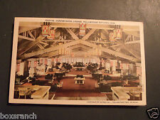 VINTAGE POSTCARD CANYON HOTEL LOUNGE FRONT WING YELLOWSTONE NATIONAL PARK
