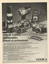 Publicité Advertising 1968  Appareil photo YASHICA