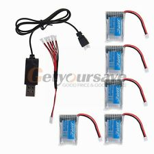5pcs JJRC H20 RC Hexacopter Quad Part 3.7V 150mAh 30C Lipo Battery USB Cable Set