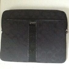 "NWT Coach Black/Black 2 Signature E/W Universal Sleeve 63139  10"" Device"