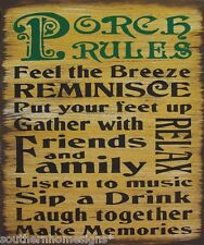Porch Rules Rustic Primitive Rustic Country Sign Home Decor