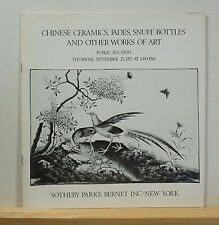 Sotheby's Chinese Ceramics, Jades Snuff Bottles and Other Works of Art 9/25/1975
