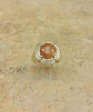 VICTORIA WIECK 2.48CT FIRE OPAL TAPERED CITRINE VERMEIL RING SIZE 5 HSN SOLDOUT
