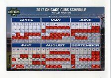 2017 Chicago Cubs Magnet Schedule Wrigleyville Rooftops