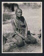 Rhodesia NATIVE GIRL Gwembe Valley * Vintage Ethnic Nude XL Photo by NIGEL WATT