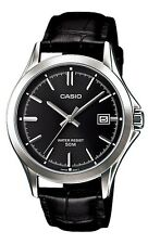 Casio MTP1380L-1A Men's Standard Analog Leather Band 50M Black Dial Watch