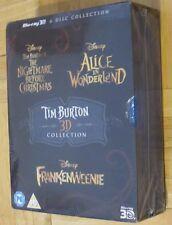 New/Sealed Tim Burton / Disney 3D Film Collection * Blu-ray 6 Discs Region Free