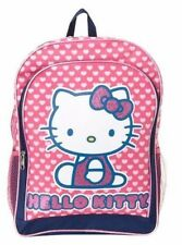 "Brand New Hello Kitty Hearts Glitter Pink 16"" Large Girls School Backpack  Pink"