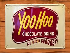 "TIN-UPS TIN SIGN ""Yoo Hoo"" SODA Chocolate Advertisement Wall Decor"