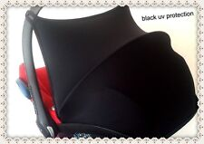 Black maxi cosi cabriofix sun canopy hood shade protection uv