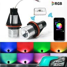 RGB LED Angel Eyes Halo Ring Light Bulb +WIFI Remote Marker For BMW E39 E60 E87