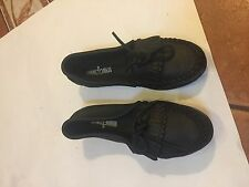 NEW Minnetonka Moccasin Women's Kilty DEERSKIN Black Slip-On #69 Size 6 SHOE