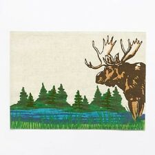 Sonoma Moose at the Lake Fabric Placemat Kitchen Table Place Mat Woods Lodge