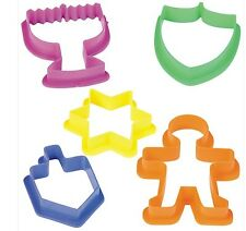 JUDAICA COLLECTIBLE JEWISH CHANUKAH HANUKAH CHILDRENS COOKIE CUTTERS SET OF 5 @@