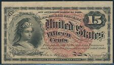 Fr1258 4Th Issue 15¢ Fractional Currency Br3281