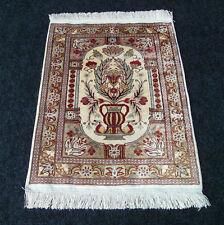 Feiner Seidenteppich Hereke Vase 58 x 45 cm Orient Teppich Seide Silk Carpet Rug