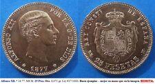 Año 1877 DEM. BONITA MONEDA de 25 pesetas. Alfonso XII - ORO  Peso 8,071 gr.