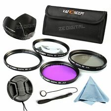 52mm UV CPL FLD Close up +10 Lens Filter Kit For Nikon D3000 D5000 D7000 18-55mm