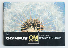 OLYMPUS OM SYSTEM MACROPHOTO GROUP MANUAL