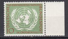 BRD 1955 MER. n. 221 post fresco con bordo pagina TOP!!! (21535)