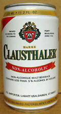 CLAUSTHALER NON-ALCOHOLIC MALT BEV. empty Beer CAN, GERMANY 1+