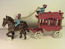 1930s Overland Circus Cast Iron Kenton Horse Drawn Wagon Antique Toy
