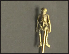 Rare & Unusual Antique Gold Skeleton Stick Pin / Tie Pin