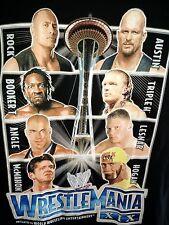 WWE Wrestlemania XIX match-ups T-shirt XL 2003 WWF 29  Rock Austin Hogan Lesnar