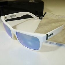 Von Zipper Elmore Sunglasses-MINDGLO-White Gloss w Sky Blue Chrome Lens-SMRFAELM