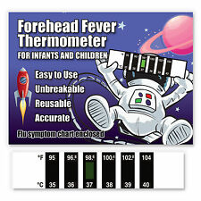 Spaceman Forehead Baby Fever Thermometer w/ Cold & Fever Info - CE Marked