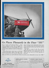 STINSON AIRCRAFT CORP 1940 STINSON FINER 105 PLANE FOR YOUNG IN HEART AD