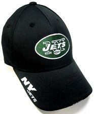 New York Jets NFL Sideline Fitmax '70 Hat Cap Black NY Visor Logo Flex Fit L/XL