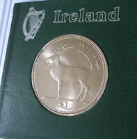 1998 Republic of Ireland Eire Irish Pre Euro £1 One Punt Pound Coin in Display