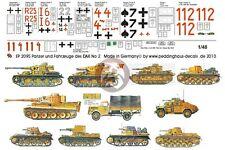 Peddinghaus 1/48 DAK Afrika Korps Tank & Vehicle Markings #2 (11 vehicles) 2095