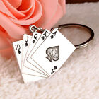 New Creative Silver Metal Key Chain Ring Gift Poker Keychain Keyfob Keyring