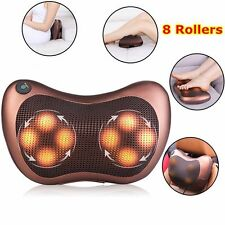 Heat Massage Pillow Shiatsu Deep Kneading Massager Relax Neck Shoulder Pain Back