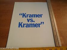 Kramer vs Kramer screening movie program 1979 Dustin Hoffman folder