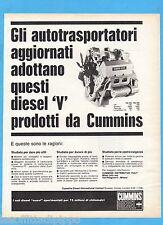 QUATTROR966-PUBBLICITA'/ADVERTISING-1966- CUMMINS - MOTORE DIESEL