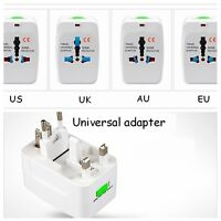Universal ALL IN ONE Travel AC Power Plug Adapter Converter UK EU AU NZ US USA