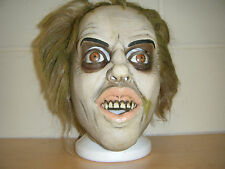 BEATLE JUICE BEETLEJUICE DELUXE LATEX HORROR HALLOWEEN HEAD HAIR COSTUME MASK