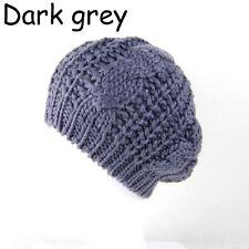 Fashion Warm Winter Women's Beret Braided Baggy Knit Crochet Beanie Hat Cap