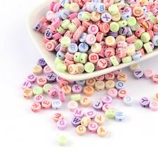 Letter Beads Alphabet Beads Assorted Bulk Beads Wholesale Beads 50 pieces 7mm
