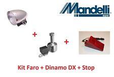 Kit Faro Cromato + Dinamo DX in Alluminio + Stop post. per bici 20-24-26 Cruiser