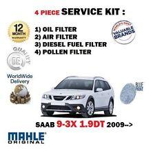 FOR SAAB 9-3X 1.9 TD TTID 2009--  OIL AIR FUEL POLLEN 4 FILTER SERVICE KIT