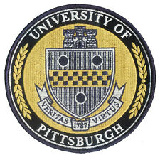 "New 5"" diameter Embroidered University of Pittsburgh Patch - PITT PANTHERS - PGH"