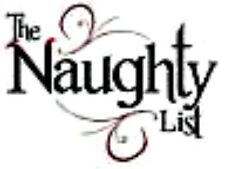 20 water slide nail decals Christmas the naughty list 5/8 inch trending