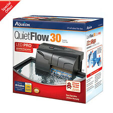 30 GALLON Power Filter 200 GPH Aqueon QuietFlow Fish Tank Aquarium Clean Water