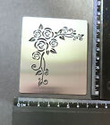 Small/Stainless/Steel/stencil/Oblong/Corner/Rose/Emboss/PRETTY/NEW