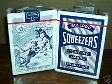 Squeezers Bicycle Playing Cards BLUE Deck Bull Dog Back Poker Standard Index NEW
